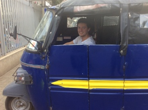 Our man Alan riding in a tuk-tuk